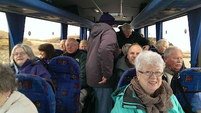 The first free bus trip from Ardrishaig to the Allt Dearg turbines was on Saturday 4th May.