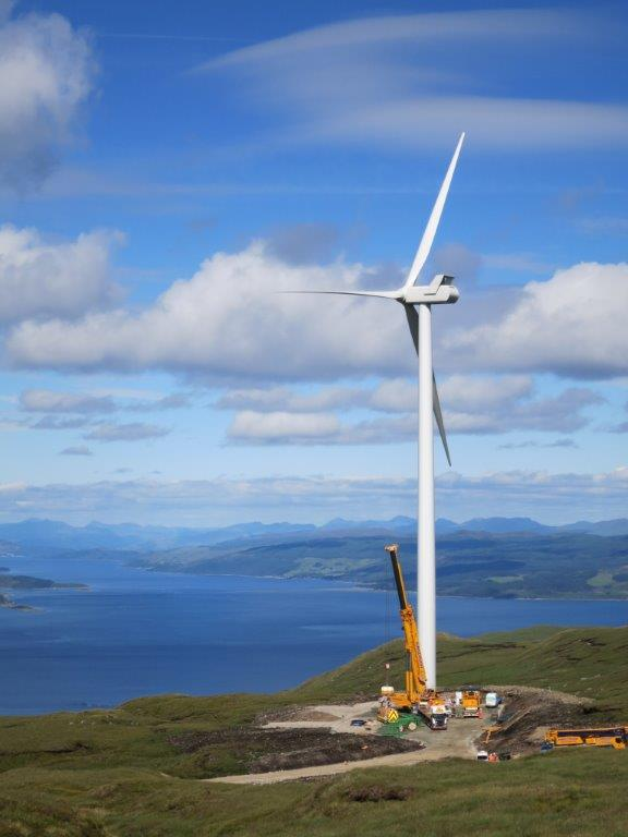 Last Turbine Up at Sròndoire Community Windfarm as Renewables Storm Rages